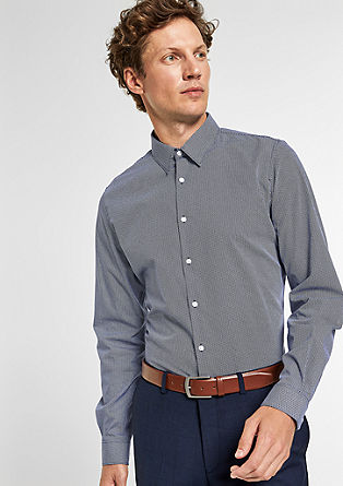 Slim: shirt with a tie pattern from s.Oliver