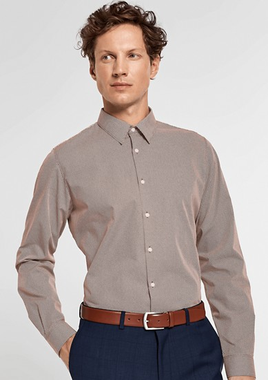 Slim: Hemd mit Krawattenmuster