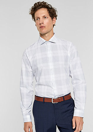 Slim: shirt with a glittery check pattern from s.Oliver