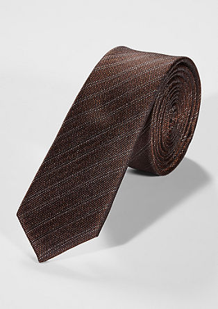 Striped silk tie from s.Oliver