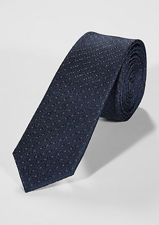 Silk tie with a textured pattern   from s.Oliver