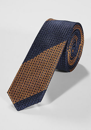 Silk tie with a striped pattern from s.Oliver