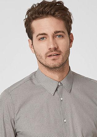 Slim: business overhemd met motief