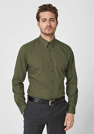 Slim: Stretchhemd aus Popeline