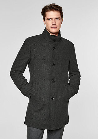 Modern Fit: textured short coat from s.Oliver