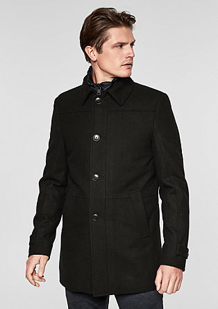 Comfort fit: classic wool coat from s.Oliver