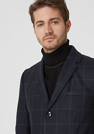 Wool coat with a check pattern from s.Oliver