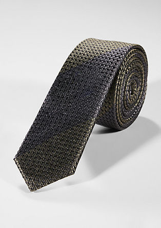 Silk tie with a woven pattern from s.Oliver