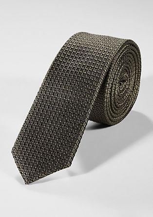Cravate en soie de texture à motifs de s.Oliver