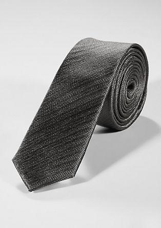 Zijden stropdas met geweven motiefje