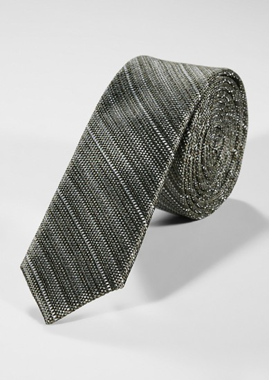 Silk tie with stripes from s.Oliver
