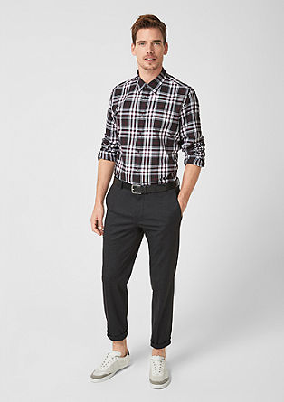 Slim Fit: check flannel shirt from s.Oliver