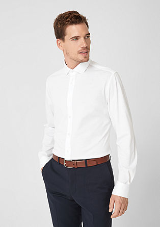 Slim Fit: Shirt with spread collar from s.Oliver