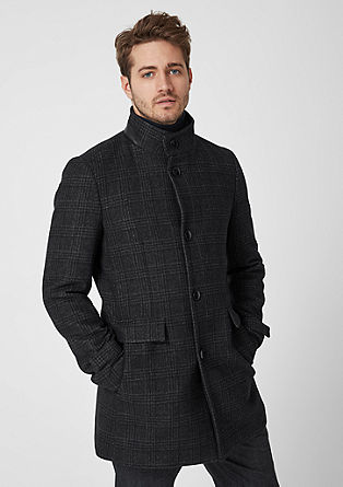 Modern Fit: Wool coat with stand-up collar from s.Oliver
