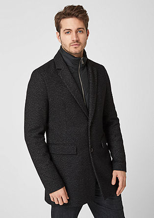 Classic wool coat with an insert from s.Oliver