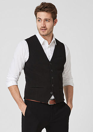 Waistcoat with a ribbed texture from s.Oliver