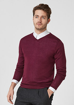 Fine knit jumper with merino wool from s.Oliver