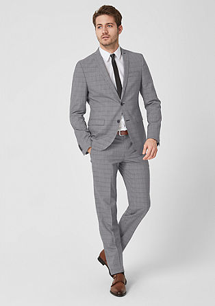 Cesano Slim: trousers with a glencheck pattern from s.Oliver