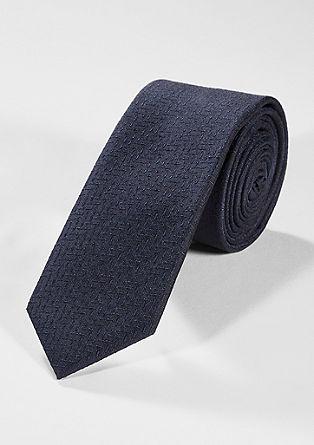 Zijden stropdas met gestructureerd motief