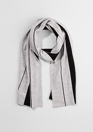 Fine knit two-tone scarf from s.Oliver