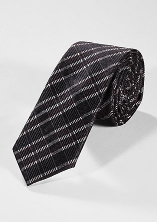 Tie with a check pattern from s.Oliver