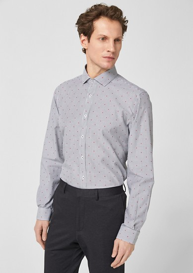 Slim: Business shirt with a shark collar from s.Oliver