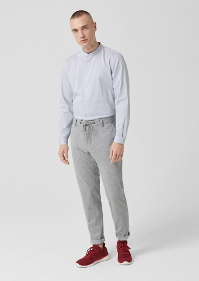 Slim: Fashionable stand-up collar shirt from s.Oliver