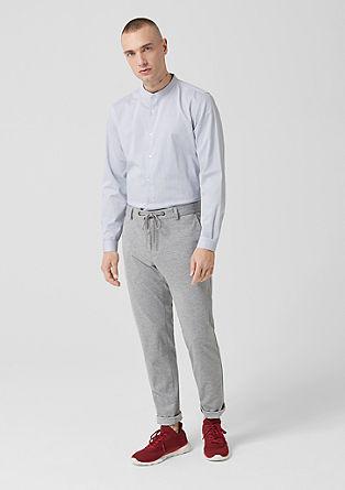 Slim: modieus overhemd met opstaande kraag
