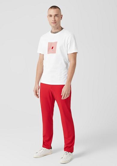 T-Shirt mit quadratischem Artwork