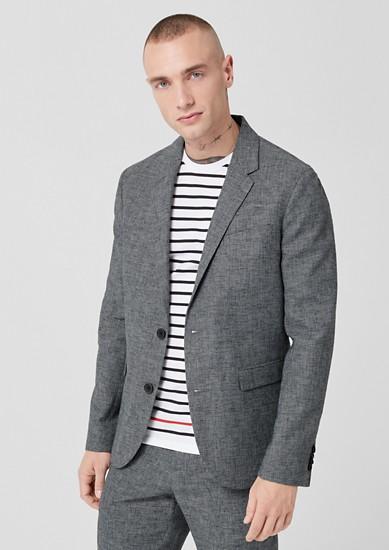 Slim: veston de costume en lin mélangé de s.Oliver