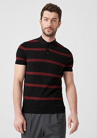 Knit polo shirt with stripes from s.Oliver