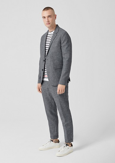 Slim: linen blend suit trousers from s.Oliver