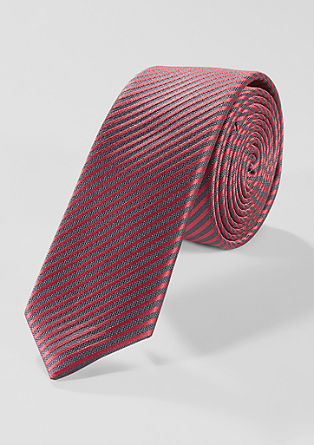Striped tie in blended silk from s.Oliver