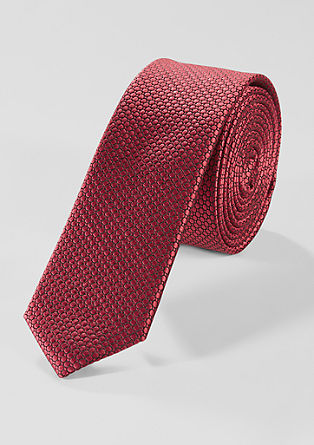 Textured tie made of blended silk from s.Oliver