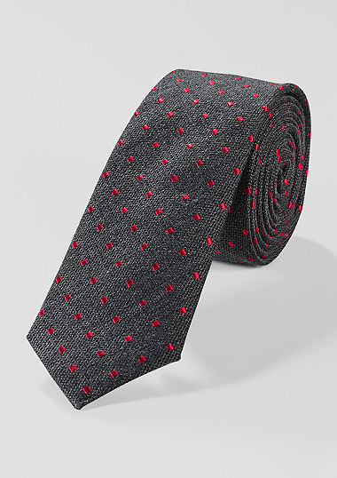 Tie with a woven pattern  from s.Oliver