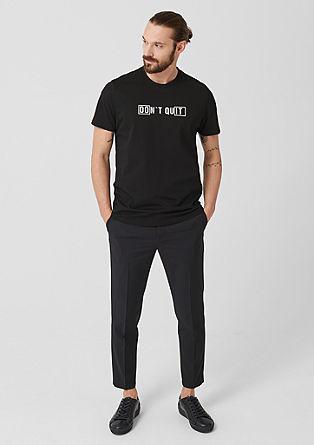Majica iz džersija z natisnjenim sporočilom