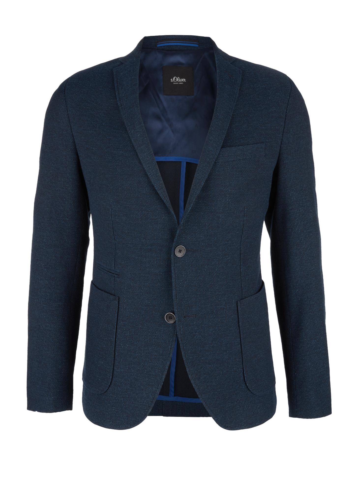 Sakko | Bekleidung > Sakkos | Blau | Oberstoff: 73% baumwolle -  27% polyester| futter: 100% polyester | s.Oliver BLACK LABEL