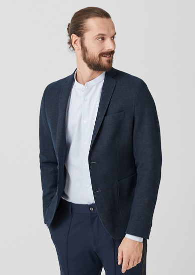 Slim: textured sports jacket from s.Oliver