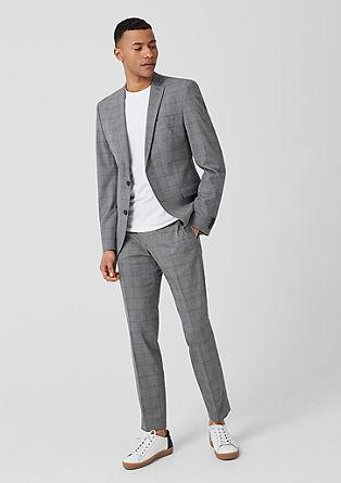 Slim: kárované oblekové kalhoty