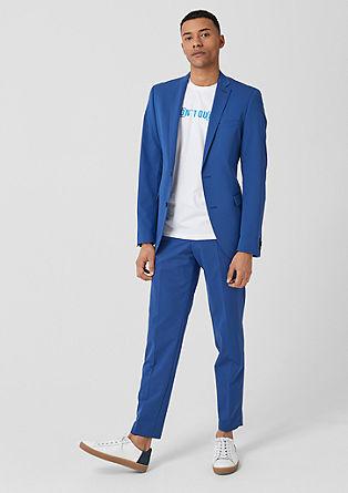 Slim: pantalon met persplooien