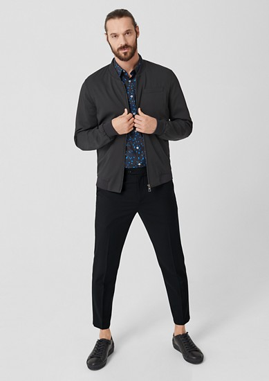 Slim: trousers in blended new wool from s.Oliver