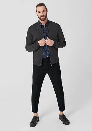 Relaxed: kalhoty ze směsi se střižní vlnou