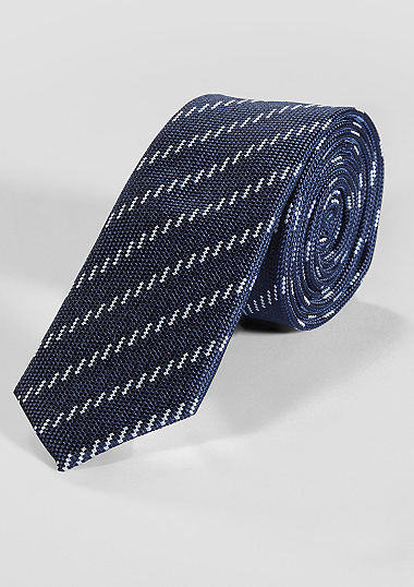 Streifen-Krawatte aus Seidemix