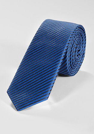 Gestreifte Krawatte aus Seidemix