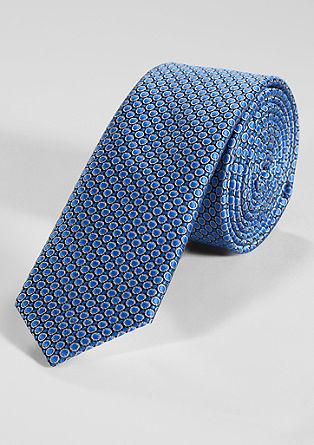 Gestructureerde stropdas van een zijdemix