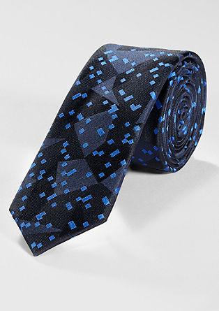 Gemusterte Krawatte aus Seidenmix