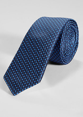 Silk blend tie with a woven pattern from s.Oliver