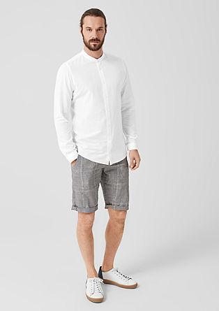 Slim: overhemd van een linnenmix