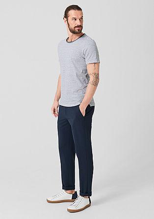 Črtasta majica iz lana