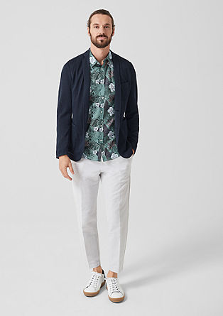 Slim: Linen blend jacket from s.Oliver